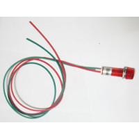 Индикаторная лампа с проводами 220v красная