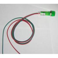 Индикаторная лампа с проводами 220v зеленая