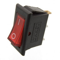 Кнопка клавишная красная 15А 230В
