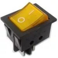 Выключатель-клавиша 4к.желтый(16А/250V)