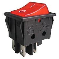 Выключатель-клавиша 4к.красный(16А/250V)